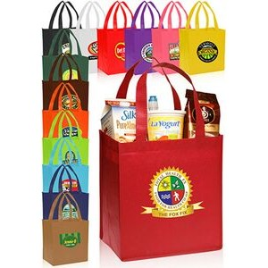 Value Non-woven Grocery Tote Bags (12