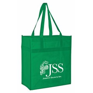 Non-Woven Market Tote Bag w/Reinforced Band